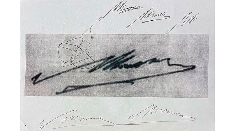Práctica: las firmas de Diego atribuídas a Luque.