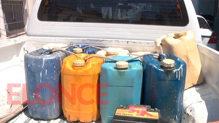 Detienen a municipal por robar 200 litros de combustible de la Planta Asfáltica