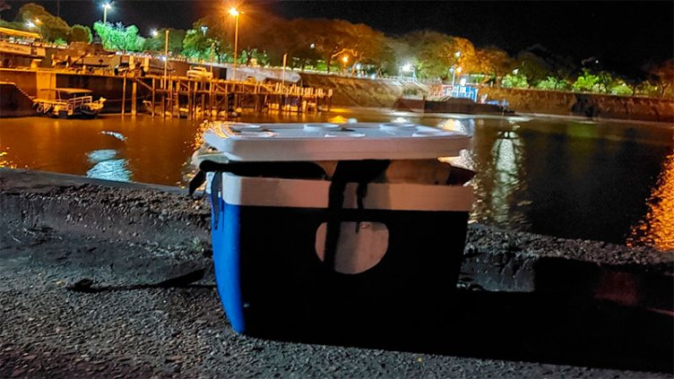 Una familia salvó su vida flotando en conservadora tras hundirse su catamarán