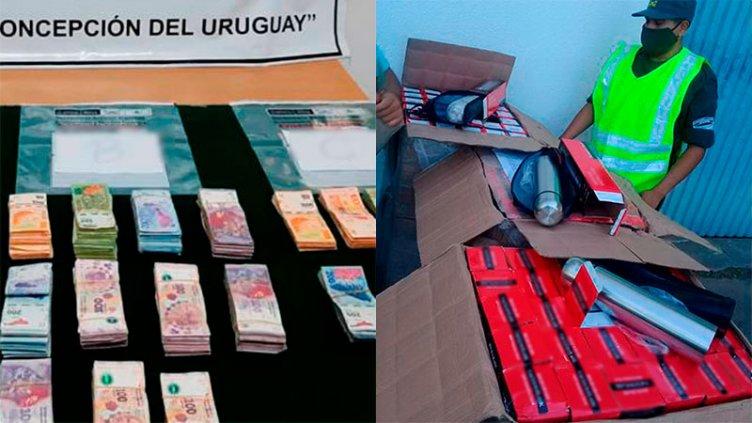 Decomisaron mercadería de contrabando en encomiendas y dinero en la Ruta 18