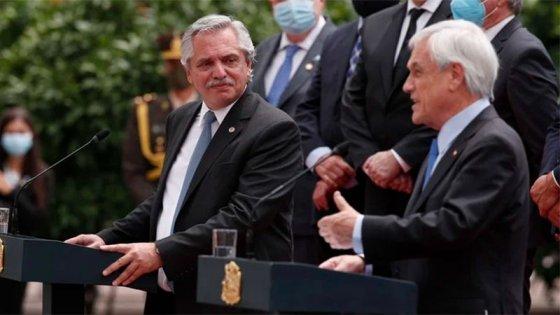Fernández con Piñera: llamó a trabajar juntos para