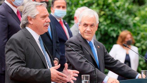 Los principales puntos de la declaración conjunta de Fernández y Piñera en Chile
