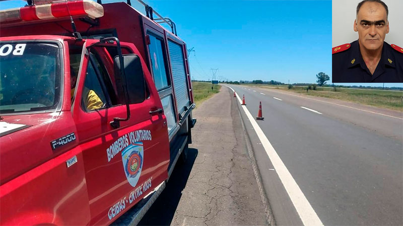 Un héroe en la ruta: bombero voluntario salvó a bebita de 7 meses que se ahogaba