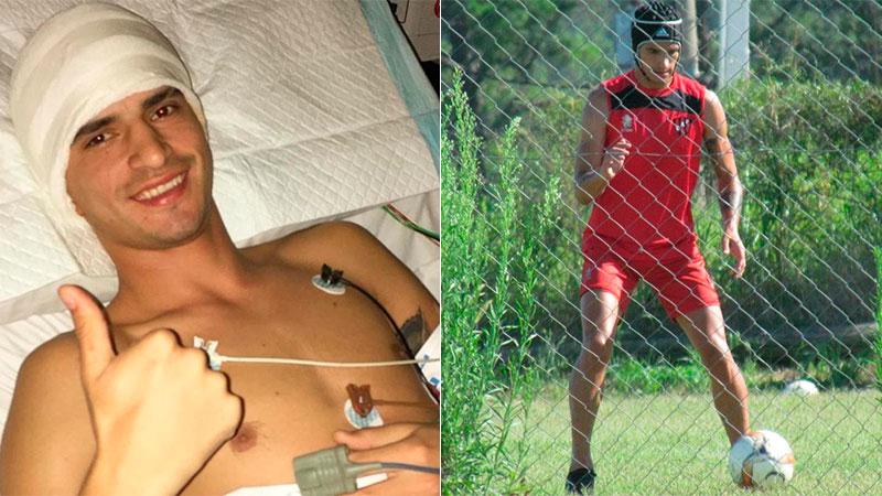 Jugador de Patronato fue operado de tumor en la cabeza y ya volvió a entrenar