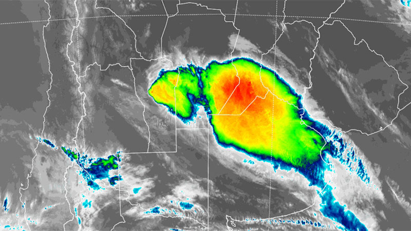 Hay alerta por tormentas fuertes para una zona de Entre Ríos