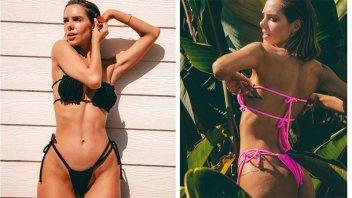 Actriz presentó su colección de bikinis y dejó suspirando a sus seguidores