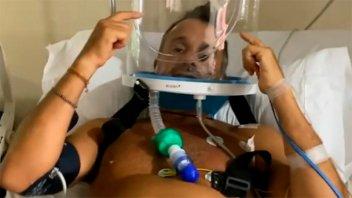 Impactante video de Sergio Lapegüe internado: