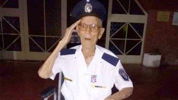 Tristeza: falleció a los 102 años el policía retirado más longevo de Entre Ríos