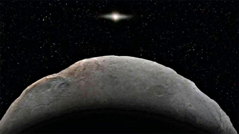 Representación artística de Farfarout, el objeto más lejano del sistema solar