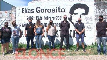 """Pintaron un mural en recuerdo de Elías Gorosito: """"Seguimos pidiendo Justicia"""""""