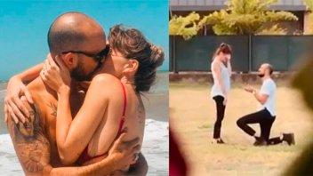 Abel Pintos mostró el video del pedido de casamiento a su novia