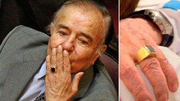 Apareció el anillo de Carlos Menem: lo devolvió la familia del enfermero prófugo