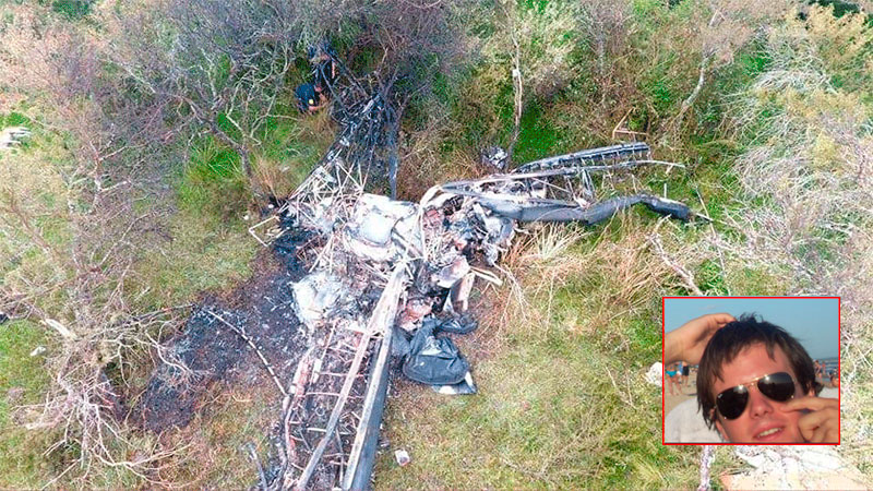 Triste desenlace: falleció Francisco, el joven piloto que cayó con su avioneta