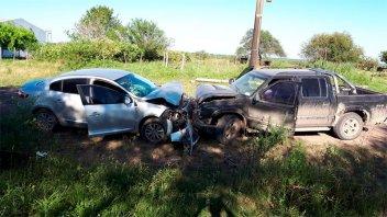 Chocaron de frente dos autos: una nena sufrió lesiones y fue trasladada a Paraná