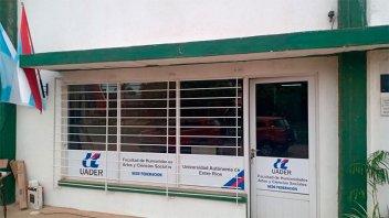 La Extensión Áulica Federación de UADER contará con una sede administrativa