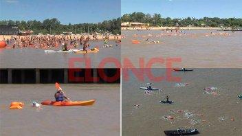 Unos 140 nadadores corrieron la Maratón Acuática del Thompson en Paraná