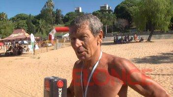 El nadador que venció al cáncer y corrió una maratón de aguas abiertas en Paraná