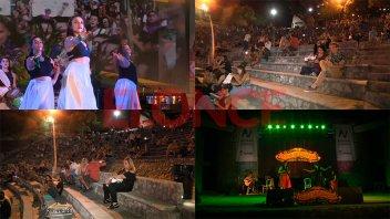 Tambores, humor y boleros, los ritmos que se disfrutaron en el Anfiteatro