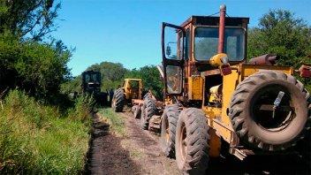 Trabajan en la conservación de caminos rurales en el norte de Entre Ríos