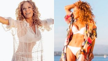 Iliana Calabró bailó en bikini desde la pileta y presumió sus curvas