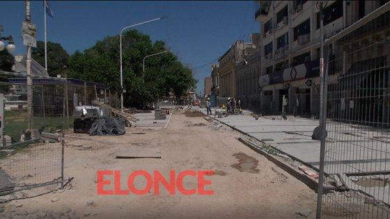 Obras en la peatonal San Martín: Se trabaja en función de los plazos previstos