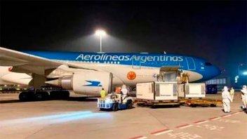 Avión de Aerolíneas Argentinas partió de China con las dosis de vacuna Sinopharm
