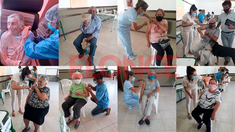 La emoción de mayores de 70 años que recibieron la vacuna en Islas del Ibicuy
