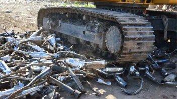 Destruyeron más de doscientos caños de escapes de motos por ocasionar ruidos