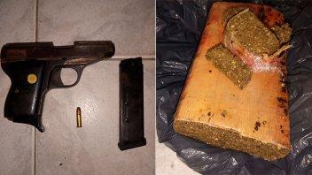 Hallaron quiosco de droga en allanamiento por robo: había dos kilos de marihuana