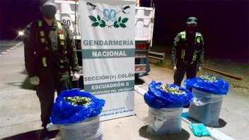 Secuestran 67 kilos de hojas de coca en la Ruta 14: estaba oculta en un camión
