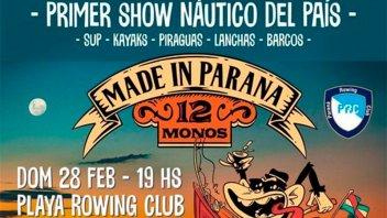 12 Monos protagonizará en Paraná el primer show náutico del país