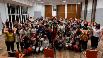 La vicegobernadora encabezó un encuentro de mujeres peronistas en gestión