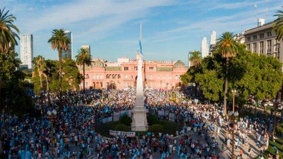 Dirigentes opositores y autoconvocados protestaron contra el Gobierno nacional