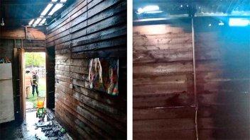 Un cortocircuito provocó incendio en una vivienda