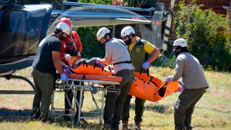 Dos entrerrianos sufrieron graves heridas por un derrumbe en el Volcán Lanín