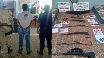 Abigeato en Paraná Campaña: detuvieron a un hombre e incautaron varias armas