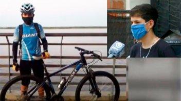 Le robaron la bicicleta antes de su primera competencia y pide que la devuelvan