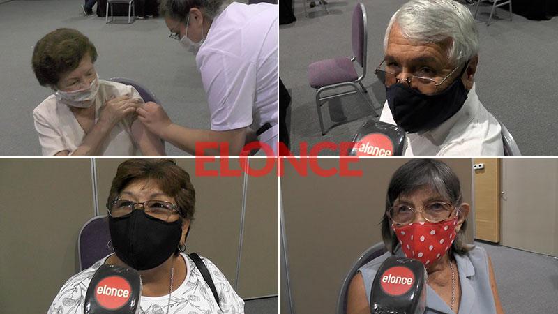 Vacunaron a 550 mayores de 70 años en Concordia: video de los testimonios