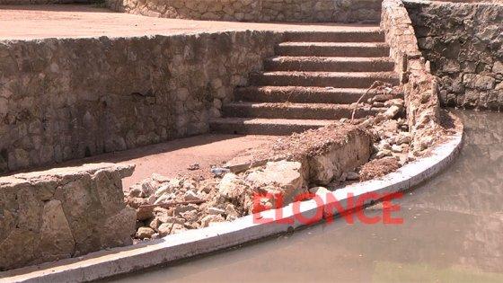 Se derrumbó un muro en el Anfiteatro y detectaron otros daños por la lluvia
