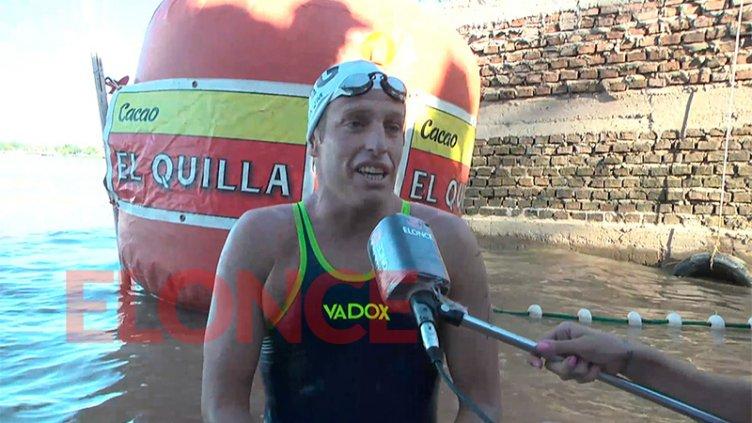 """""""Nadé y gané muchas veces, y siempre es especial"""", aseguró Blaum tras la maratón"""