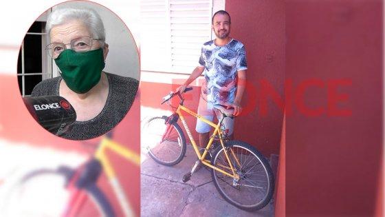 Jubilada donó una bicicleta a joven hipoacúsico que fue víctima de robo