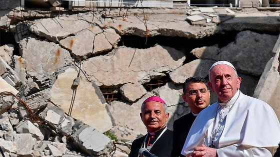 El Papa cerró su visita a Irak con un mensaje contra el terrorismo