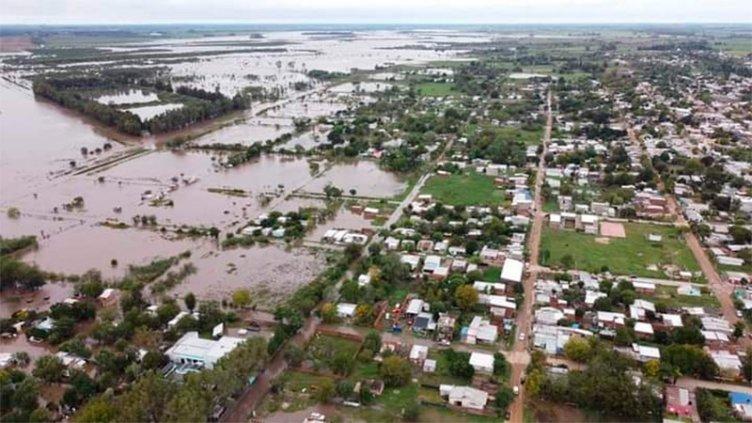 Fotos: Por las lluvias, el arroyo Nogoyá creció y llegó a 7,60 metros