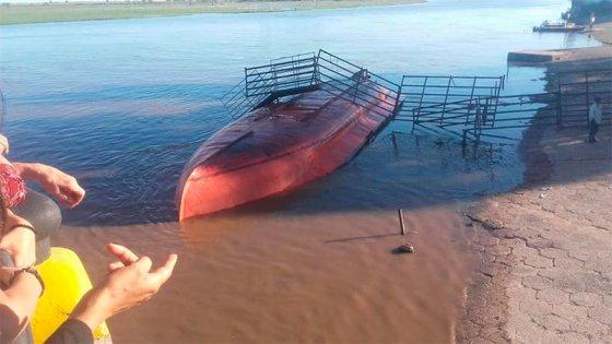 Video del momento en que barcaza con vacunos se da vuelta: murieron 20 animales