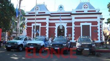 Entregaron 35 vehículos para las fuerzas federales de seguridad