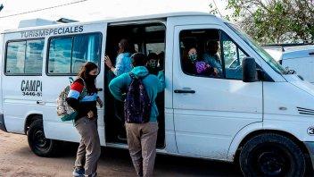 Verificaron cumplimiento de los protocolos en el transporte escolar rural