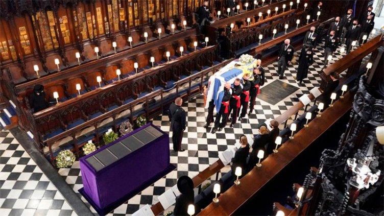 La familia real británica despidió al príncipe Felipe, esposo de la reina Isabel