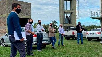 Visitaron la obra de ampliación de Planta de Efluentes Cloacales de Gualeguaychú