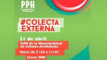 Llaman a sumarse a una colecta externa de sangre en Colonia Avellaneda