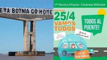 El próximo domingo Gualeguaychú marcha al Puente General San Martín